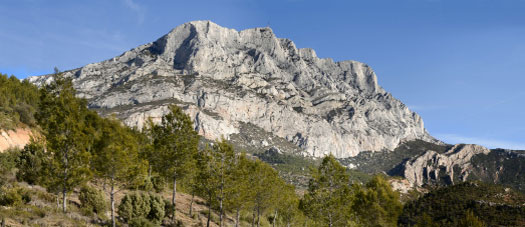 Photo of Mount St. Victoire in Provence, France